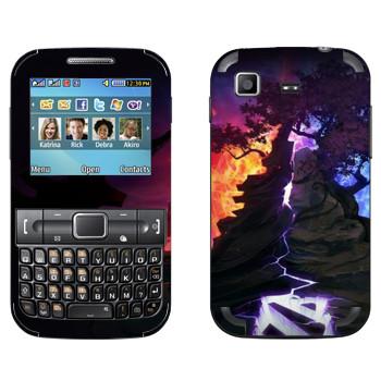 Виниловая наклейка «Dota деревья» на телефон Samsung C3222 Duos
