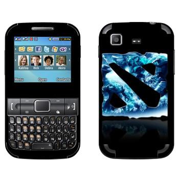 Виниловая наклейка «Dota logo blue» на телефон Samsung C3222 Duos