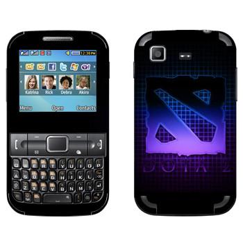 Виниловая наклейка «Dota violet logo» на телефон Samsung C3222 Duos