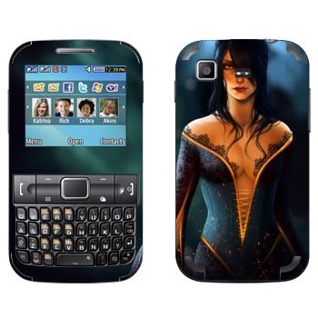 Виниловая наклейка «Dragon age - Девушка с глубоким декольте» на телефон Samsung C3222 Duos