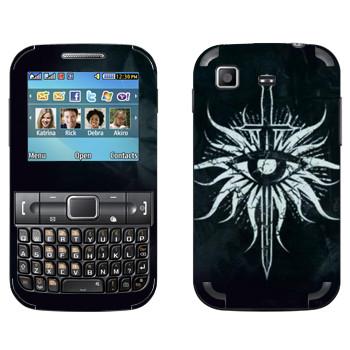 Виниловая наклейка «Dragon Age - Герб Инквизиторов» на телефон Samsung C3222 Duos