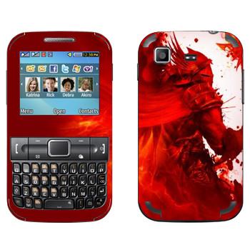 Виниловая наклейка «Dragon Age - Красный рыцарь» на телефон Samsung C3222 Duos