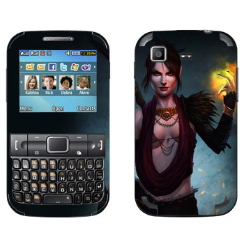 Виниловая наклейка «Dragon Age - Морриган» на телефон Samsung C3222 Duos
