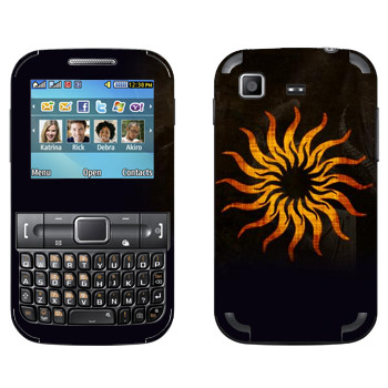 Виниловая наклейка «Dragon Age - Солнце» на телефон Samsung C3222 Duos