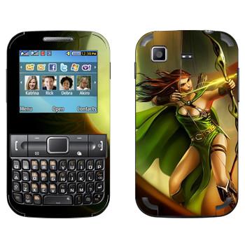 Виниловая наклейка «Drakensang archer» на телефон Samsung C3222 Duos