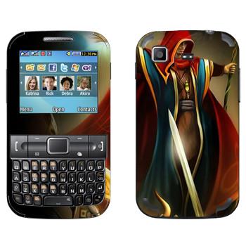 Виниловая наклейка «Drakensang disciple» на телефон Samsung C3222 Duos