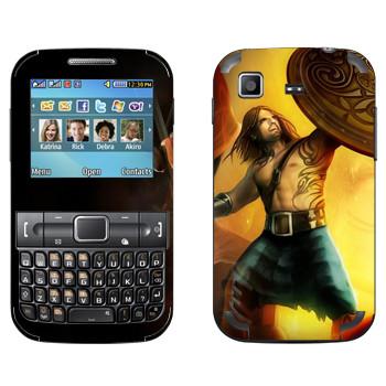 Виниловая наклейка «Drakensang dragon warrior» на телефон Samsung C3222 Duos