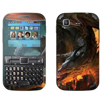 Виниловая наклейка «Drakensang fire» на телефон Samsung C3222 Duos