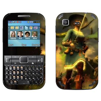 Виниловая наклейка «Drakensang Girl» на телефон Samsung C3222 Duos