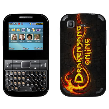 Виниловая наклейка «Drakensang logo» на телефон Samsung C3222 Duos