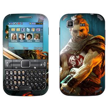 Виниловая наклейка «Drakensang warrior» на телефон Samsung C3222 Duos