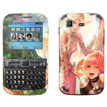 Виниловая наклейка «Две эльфийки - Lineage II» на телефон Samsung C3222 Duos