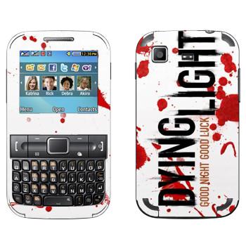 Виниловая наклейка «Dying Light  - кровь» на телефон Samsung C3222 Duos