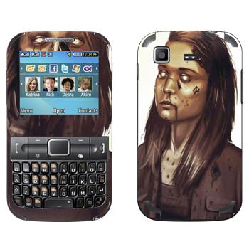 Виниловая наклейка «Dying Light - девочка зомби» на телефон Samsung C3222 Duos
