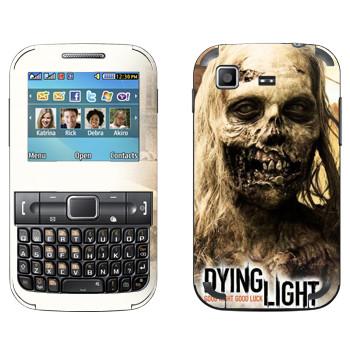 Виниловая наклейка «Dying Light женщина-зомби» на телефон Samsung C3222 Duos
