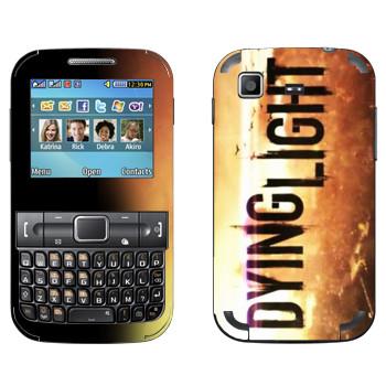 Виниловая наклейка «Dying Light лого» на телефон Samsung C3222 Duos