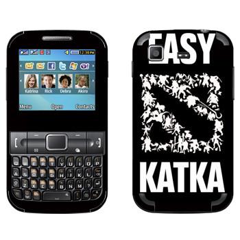 Виниловая наклейка «Easy Katka белый» на телефон Samsung C3222 Duos