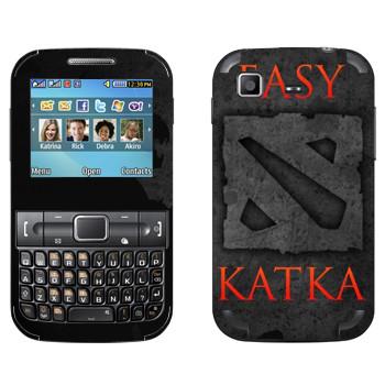 Виниловая наклейка «Easy Katka черный» на телефон Samsung C3222 Duos