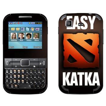 Виниловая наклейка «Easy Katka красный» на телефон Samsung C3222 Duos