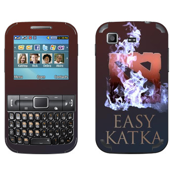 Виниловая наклейка «Easy Katka огонь» на телефон Samsung C3222 Duos