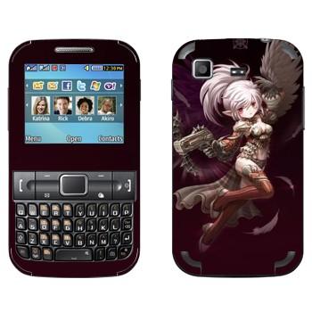 Виниловая наклейка «Элфийка с крыльями и пистолетом - Lineage II» на телефон Samsung C3222 Duos