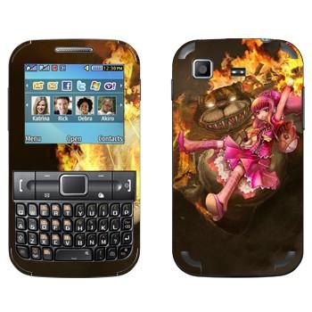 Виниловая наклейка «Энни - Дитя тьмы» на телефон Samsung C3222 Duos