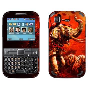 Виниловая наклейка «Far Cry 4 - слон и тигр» на телефон Samsung C3222 Duos