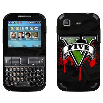 Виниловая наклейка «GTA 5 - logo blood» на телефон Samsung C3222 Duos