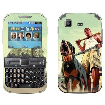 Виниловая наклейка «GTA 5 - Dawg» на телефон Samsung C3222 Duos
