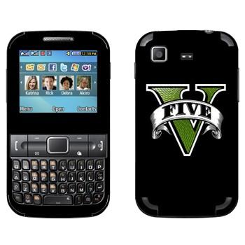 Виниловая наклейка «GTA 5 логотип» на телефон Samsung C3222 Duos