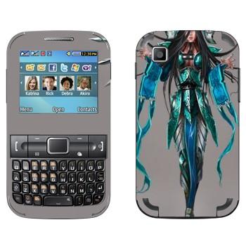 Виниловая наклейка «Ирелия - Воля клинков» на телефон Samsung C3222 Duos