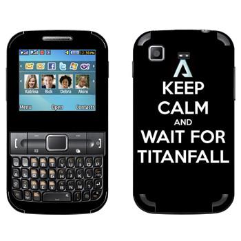 Виниловая наклейка «Keep Calm and Wait For Titanfall» на телефон Samsung C3222 Duos