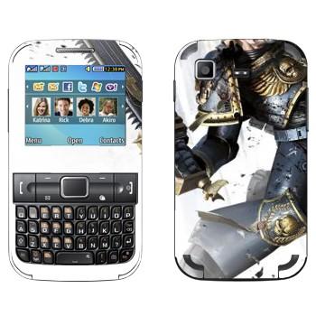 Виниловая наклейка «Космический пехотинец - Warhammer 40k» на телефон Samsung C3222 Duos