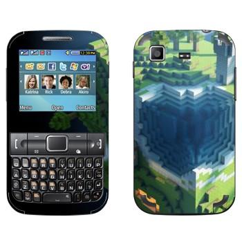 Виниловая наклейка «Куб Minecraft» на телефон Samsung C3222 Duos