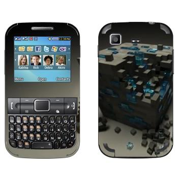 Виниловая наклейка «Куб майнкрафт» на телефон Samsung C3222 Duos