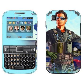 Виниловая наклейка «Летчик - GTA 5» на телефон Samsung C3222 Duos