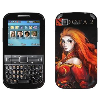 Виниловая наклейка «Лина - огненная ярость» на телефон Samsung C3222 Duos