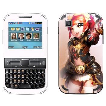 Виниловая наклейка «Lineage Гном» на телефон Samsung C3222 Duos
