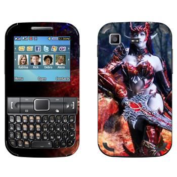 Виниловая наклейка «Lineage Орк девушка» на телефон Samsung C3222 Duos