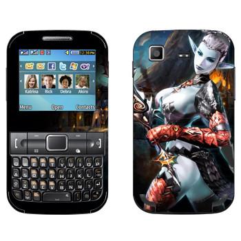 Виниловая наклейка «Lineage Темный эльф мистик» на телефон Samsung C3222 Duos