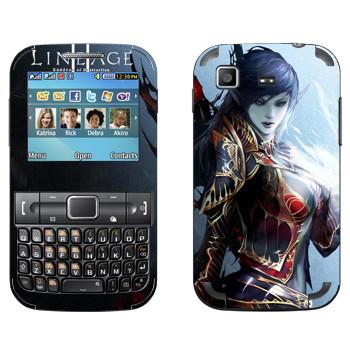 Виниловая наклейка «Lineage Темный эльф» на телефон Samsung C3222 Duos