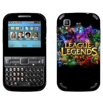 Виниловая наклейка «Лого League of Legends красочный» на телефон Samsung C3222 Duos