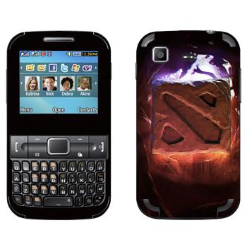 Виниловая наклейка «Логотип Dota 2» на телефон Samsung C3222 Duos