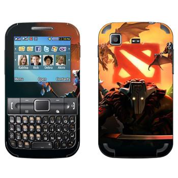 Виниловая наклейка «Логотипы с героями - Dota 2» на телефон Samsung C3222 Duos