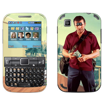 Виниловая наклейка «Майкл - GTA5» на телефон Samsung C3222 Duos