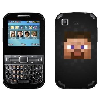 Виниловая наклейка «Майнкрафт парень» на телефон Samsung C3222 Duos