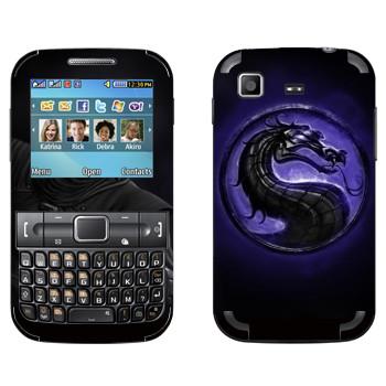 Виниловая наклейка «Mortal Kombat логотип» на телефон Samsung C3222 Duos