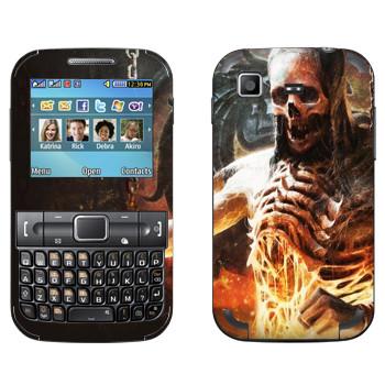 Виниловая наклейка «Mortal Kombat Скелет» на телефон Samsung C3222 Duos