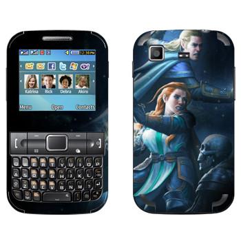 Виниловая наклейка «Neverwinter бой» на телефон Samsung C3222 Duos