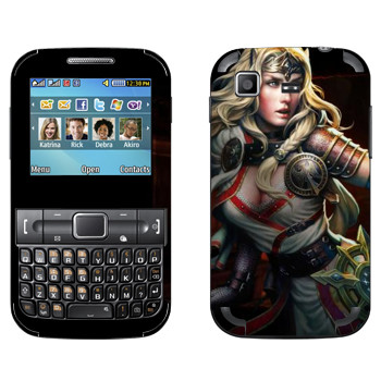 Виниловая наклейка «Neverwinter Девушка-эльф» на телефон Samsung C3222 Duos